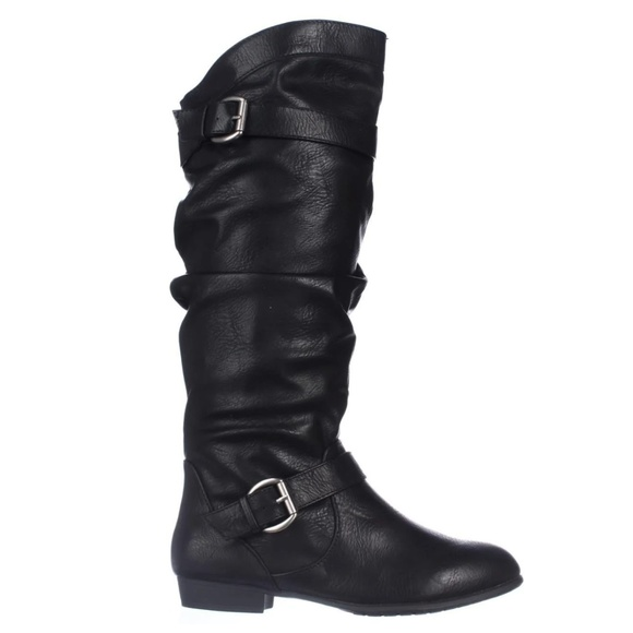 Rampage Shoes - Rampage Flat Knee High Women's Boots Black 8M